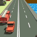 Взломанная Blocky Traffic Racer